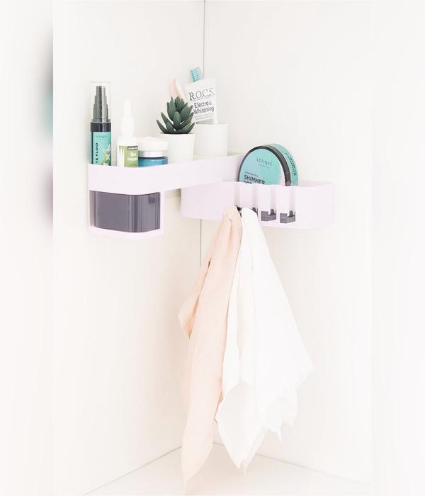 Полка для ванной комнаты Навесная Oqqi 3 ярусная #1