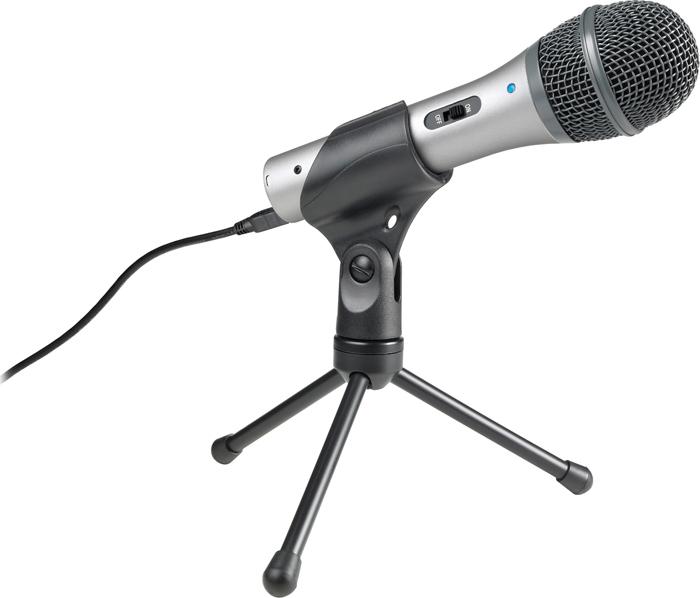 Микрофон Audio-Technica ATR2100-USB, 80000212, серебристый
