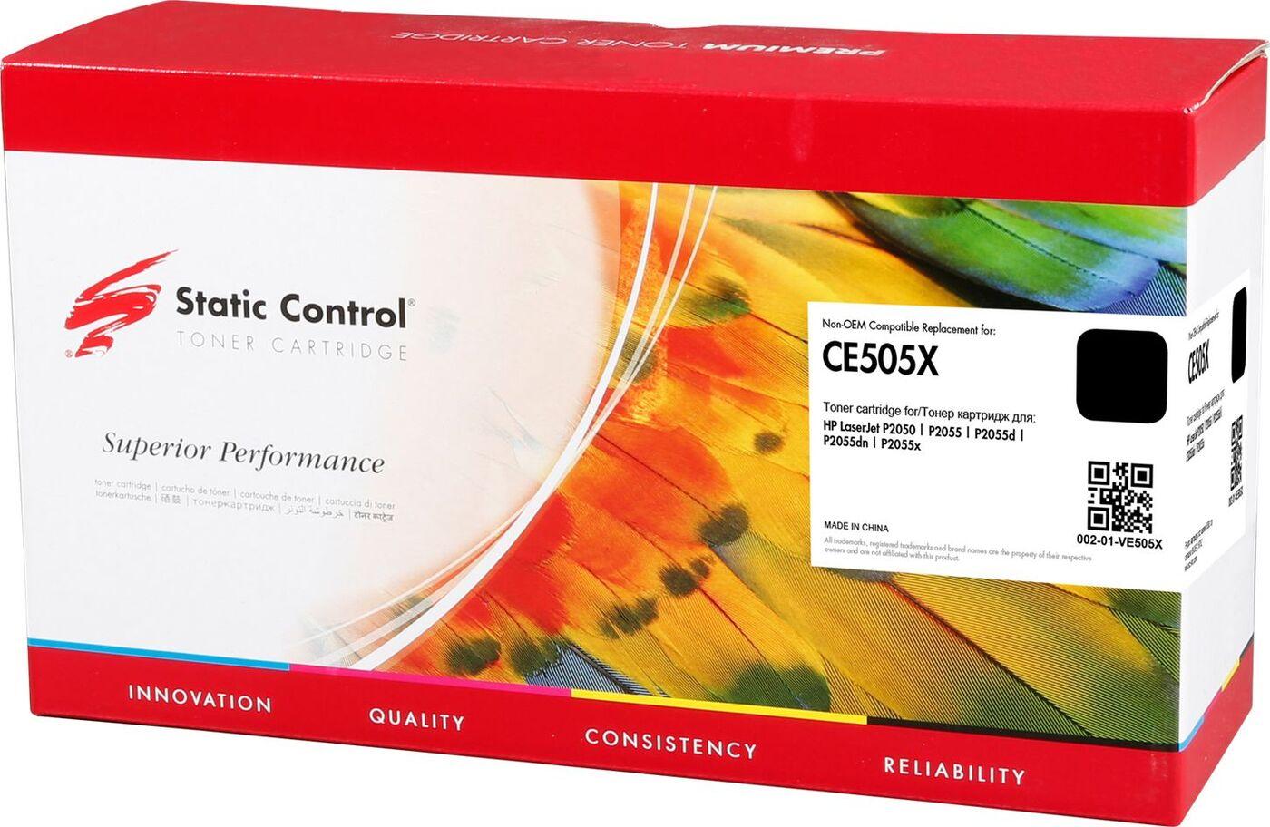 Картридж Static Control CE505X, черный, для лазерного принтера картридж ce505x
