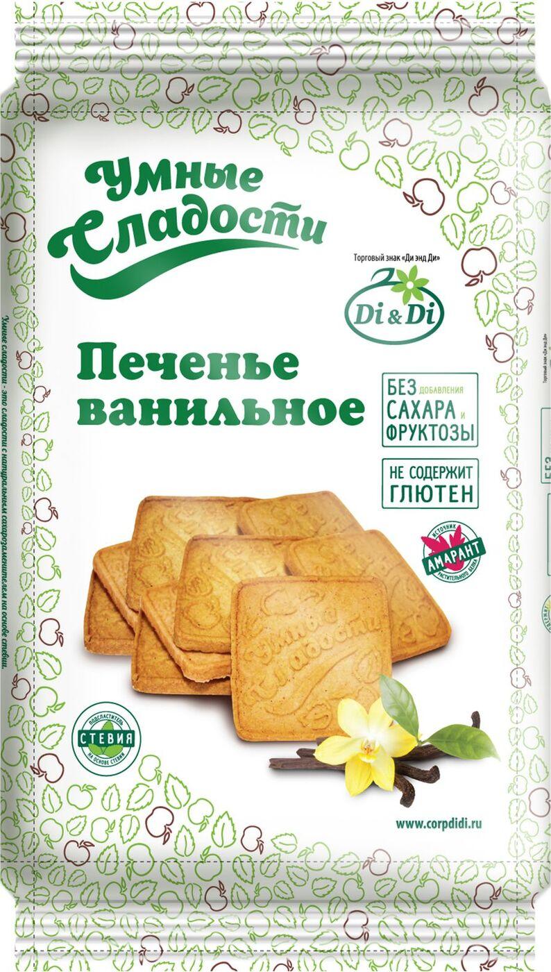 Печенье Умные сладости, ванильное, 230 г