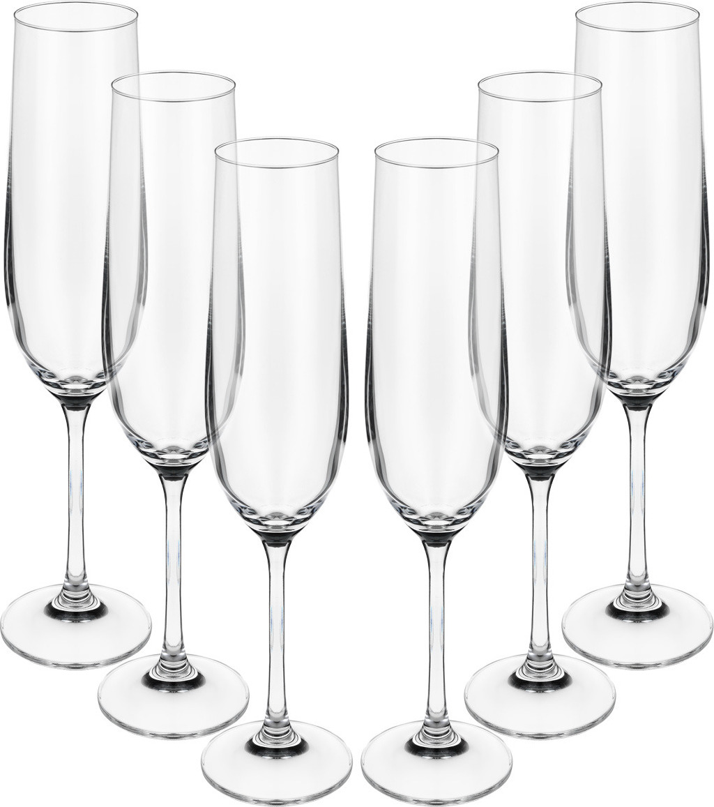 Набор бокалов для шампанского Bohemia Crystal Виола, 190 мл, 6 шт. 40729/190 набор бокалов для шампанского bohemia crystal оливия 190 мл 6 шт