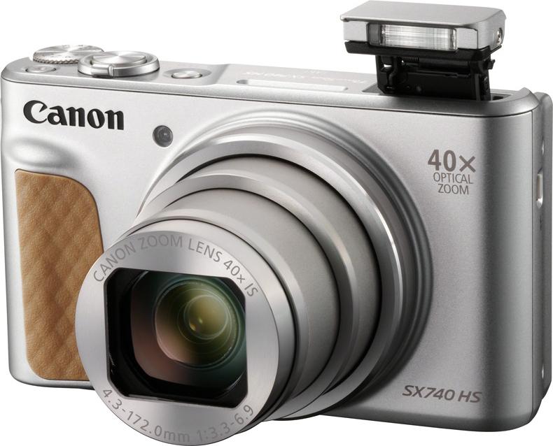 Компактная фотокамера Canon PowerShotSX740HS, серебристый