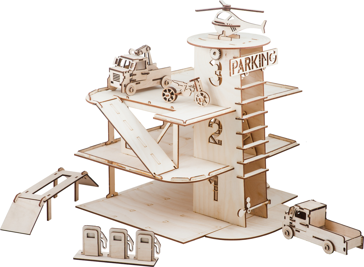 Сборная игрушка из дерева Парковка с машинками стул vision с 7 тон 318 агата коричневая