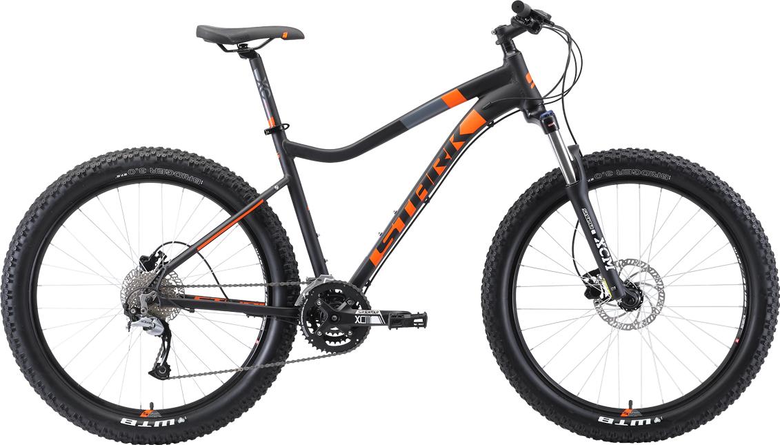 Велосипед STARK Tactic 27.5 + HD 2019 17 чёрный/оранжевый