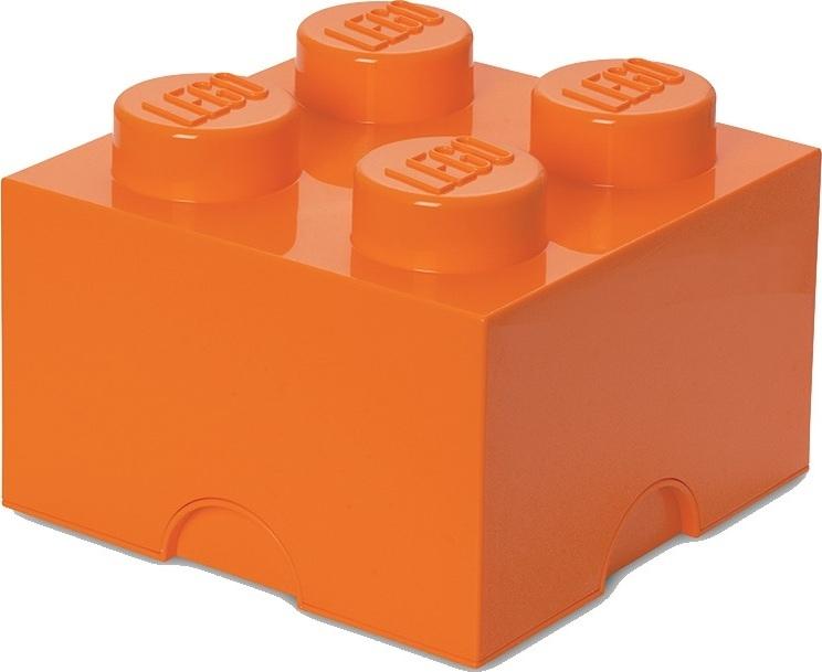 Ящик для хранения 4 LEGO оранжевый
