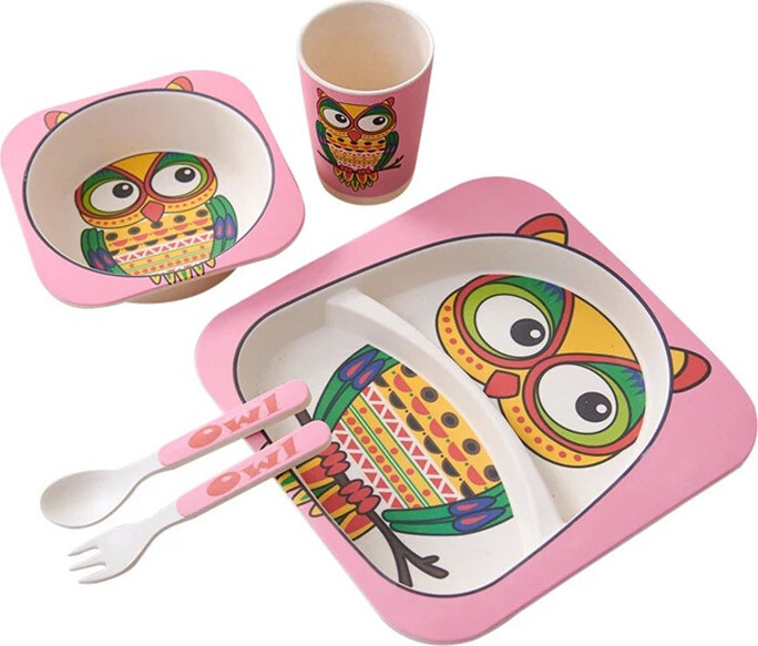 Комплект посуды Baozhiyu Пестрая сова