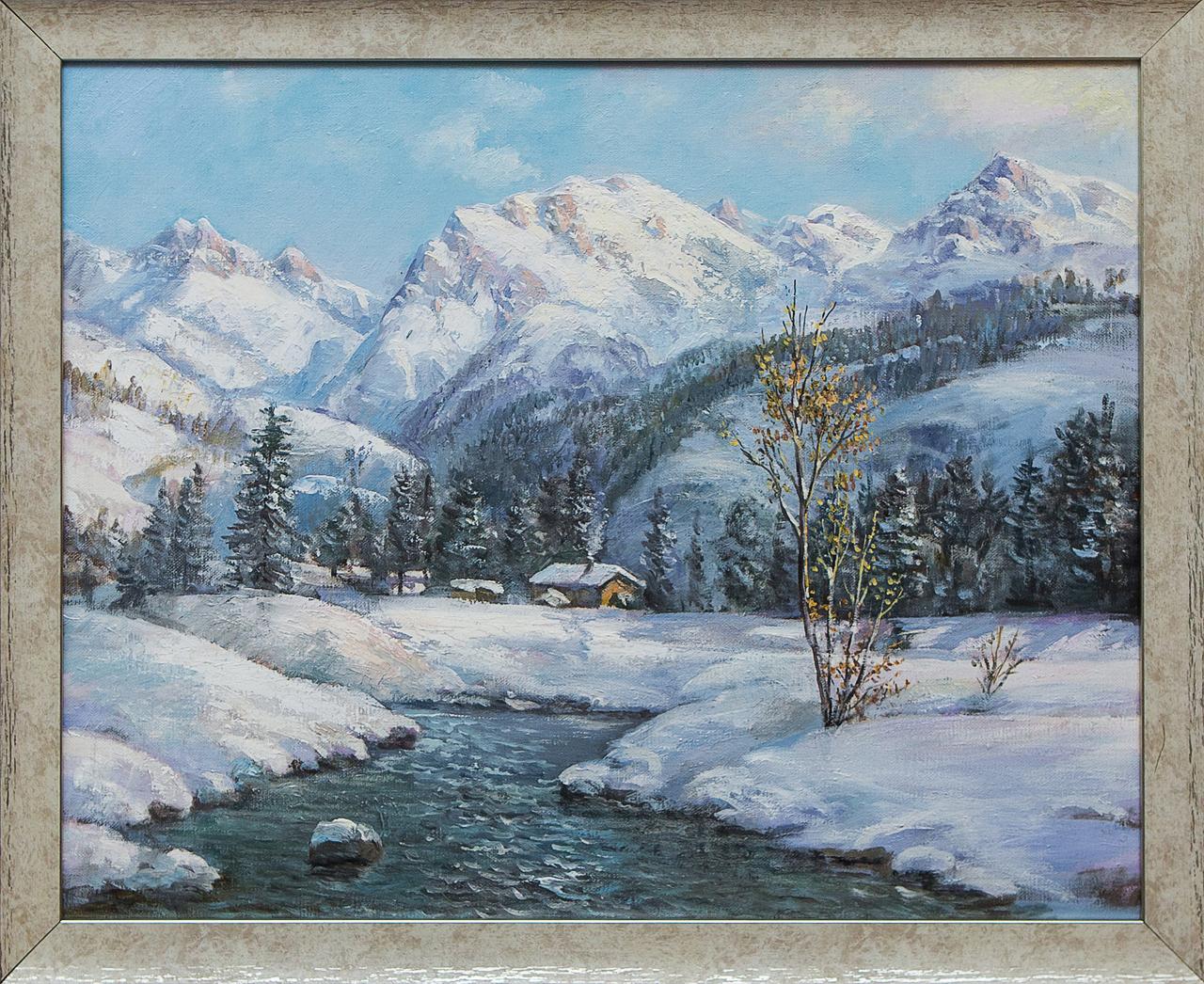 Картина маслом Горный пейзаж Воробьёв картина маслом гуляки воробьёв