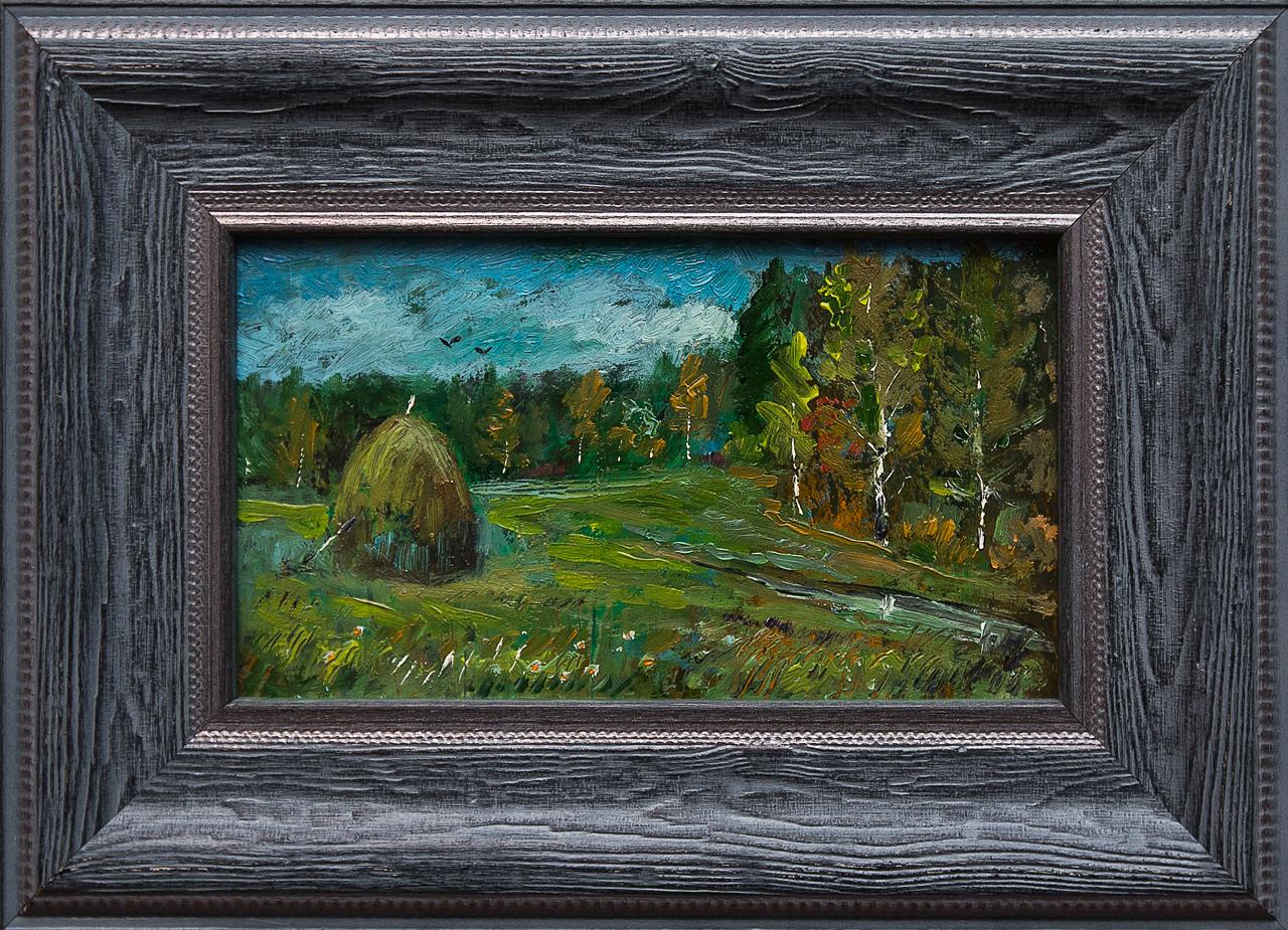 Картина маслом Стог Мифтахов картина маслом подсолнухи мифтахов