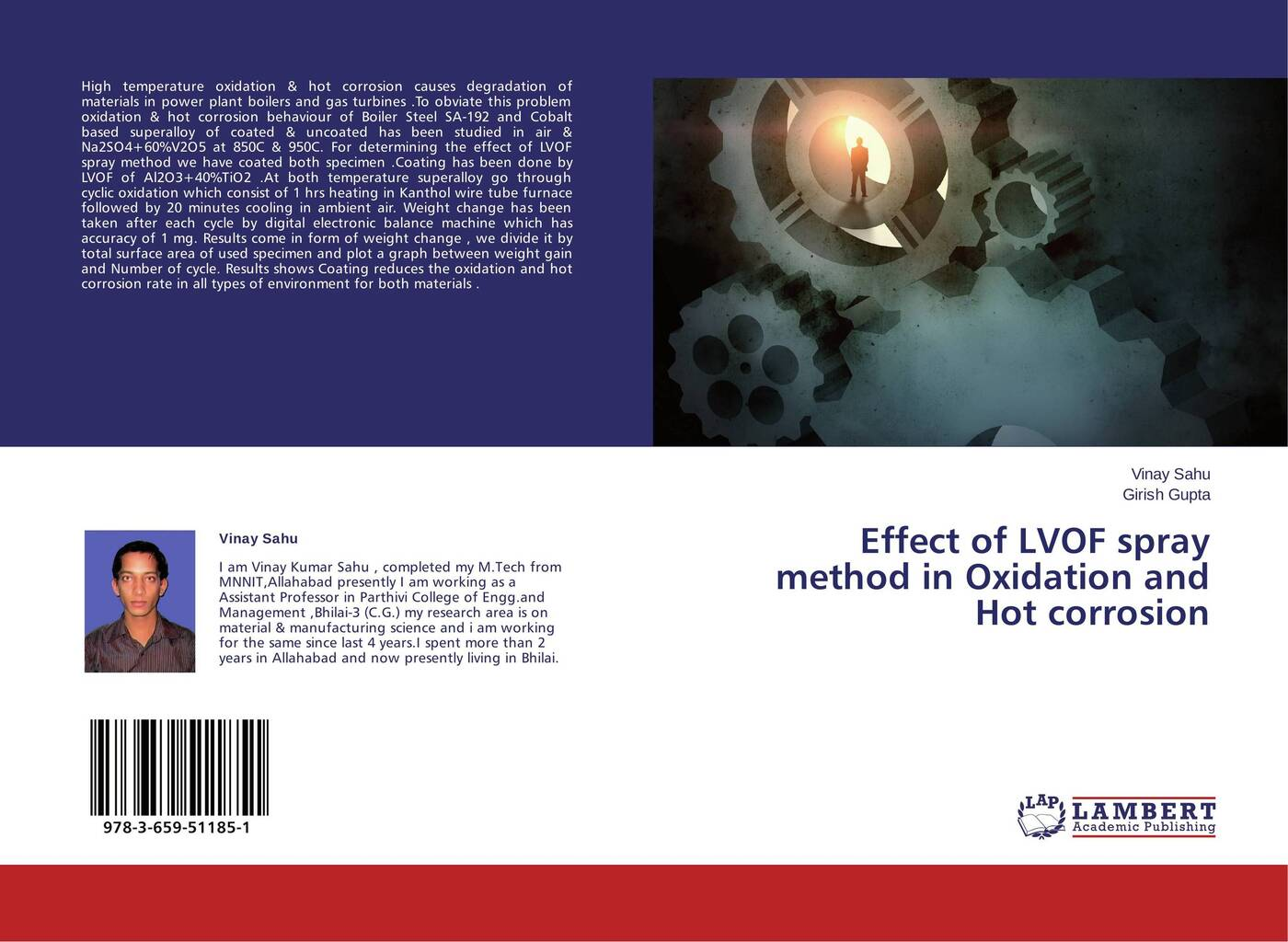 Vinay Sahu and Girish Gupta Effect of LVOF spray method in Oxidation and Hot corrosion oxidation of sugars