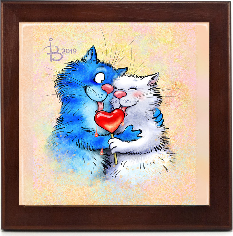 этого, картинка синий кот на магнит любом случае