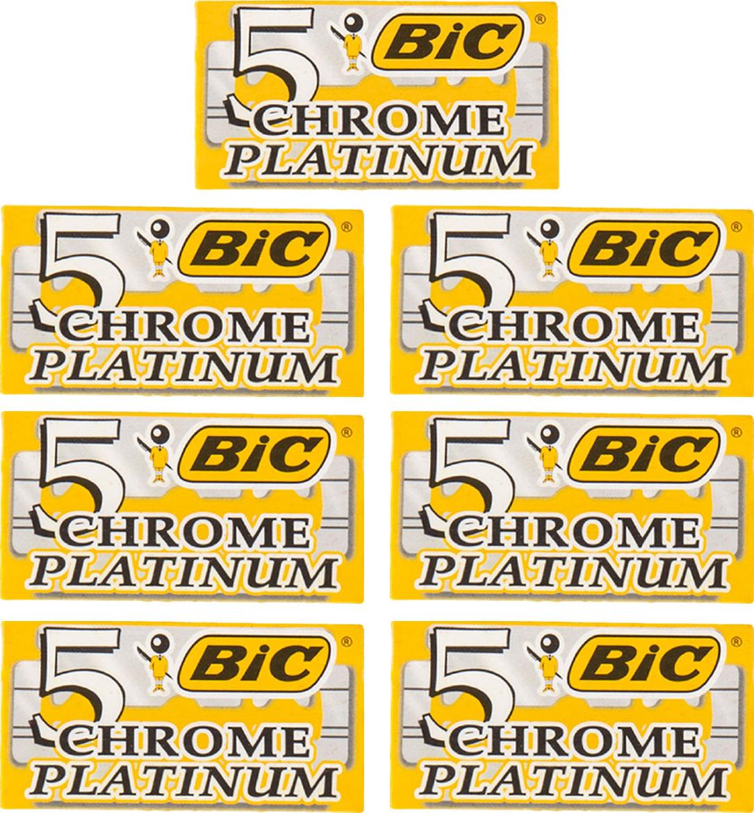 7 упаковок лезвий BIC CHROME PLATINUM для бритвенных станков