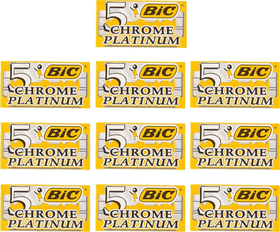 10 упаковок лезвий BIC CHROME PLATINUM для бритвенных станков