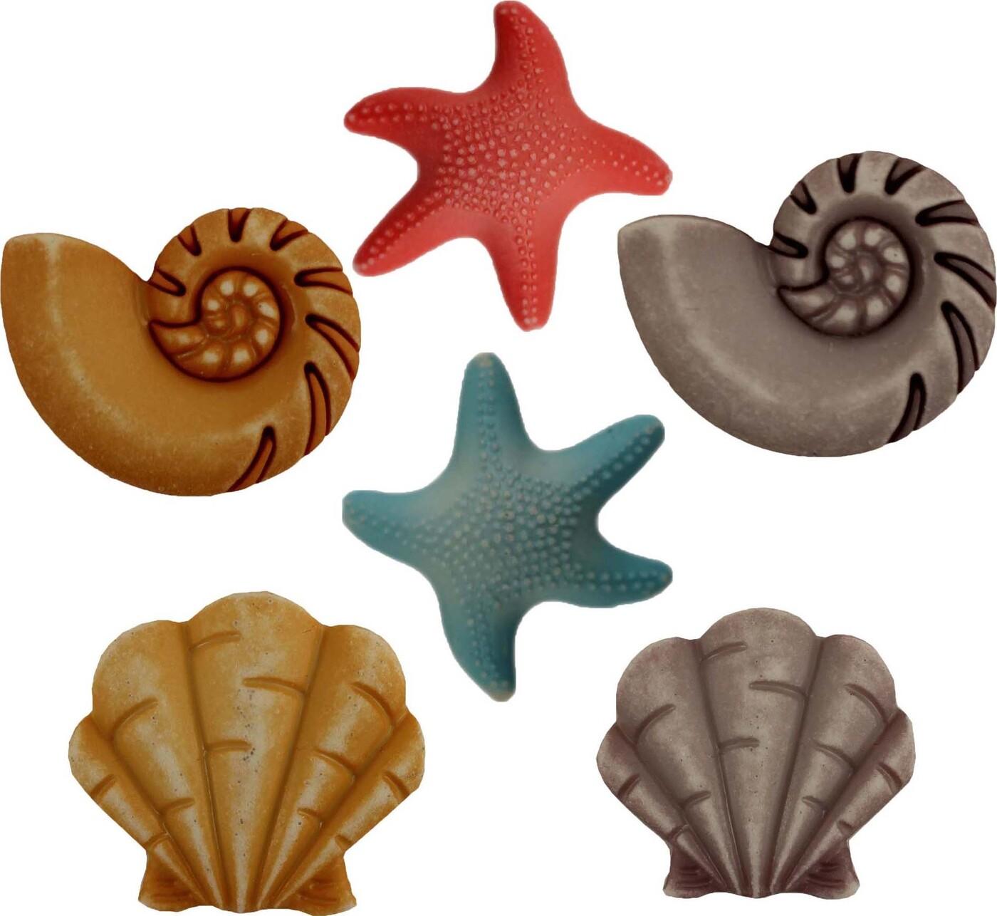 Пуговицы Buttons Galore пластиковые декоративные Beachcomber