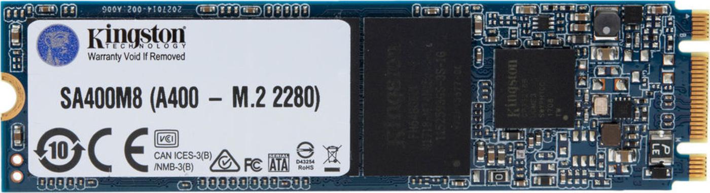 SSD-Накопитель  Kingston   120GB  SA400M8, SM2280 m.2 Sata, SATA-III, R/W -500/320 MB/s, TLC 3D NAND