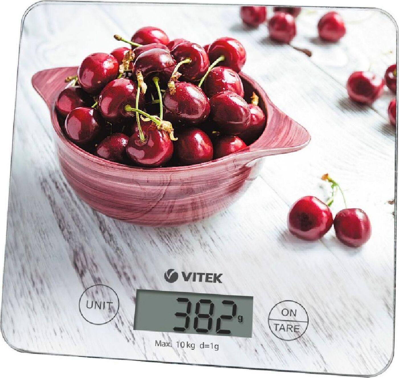 8002-VT(W) Весы кухонные VITEK Максимальный вес 10 кг. Цена деления 1 г.
