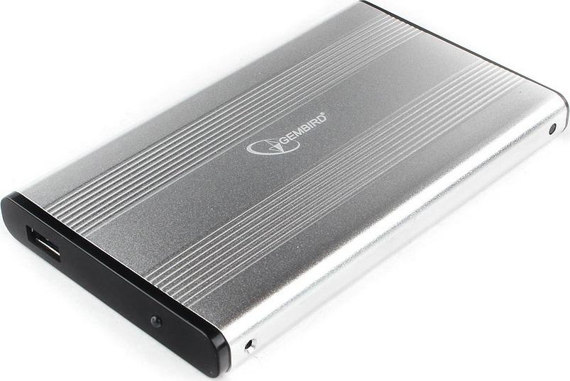 """Внешний корпус 2.5"""" Gembird EE2-U3S-5-S, серебро, USB 3.0, SATA, металл"""