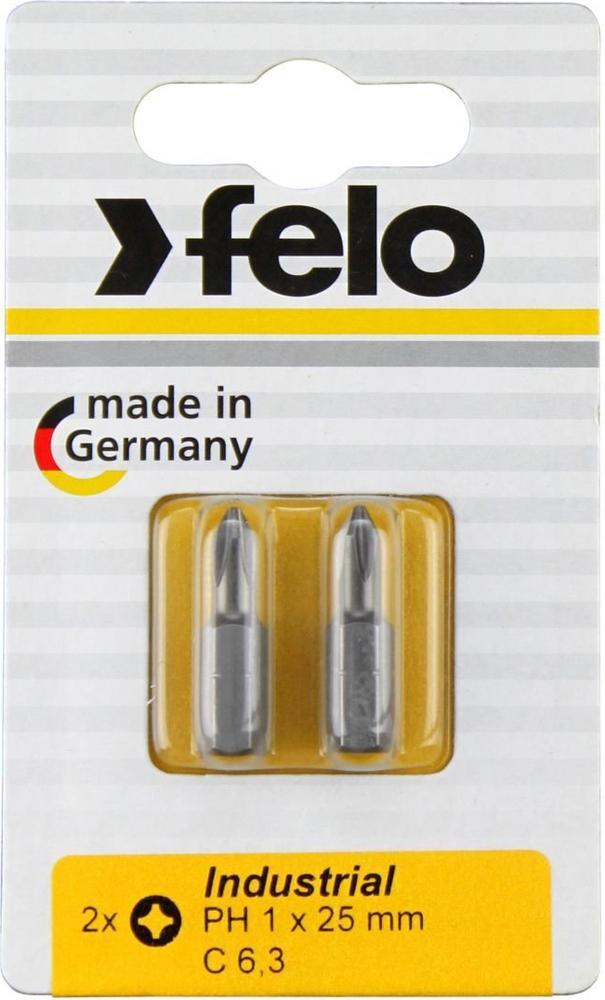 Бита для инструмента Felo Industrial, крестовая PH 1х25 мм, FEL-02201036, 2 шт