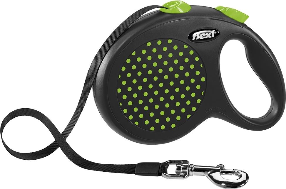 Поводок-рулетка Flexi Design tape M 5m 25 kg green