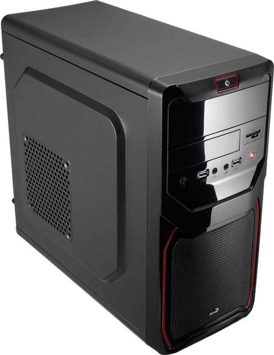 Корпус Mini Tower AeroCool Qs-183 Advance Red, без Б/п, mATX 4713105955477
