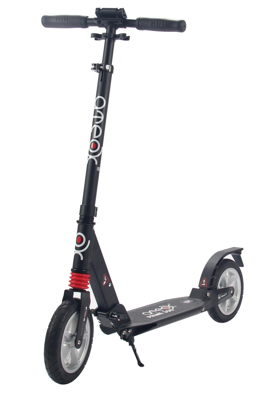 Самокат для взрослых Ateox PRIME 300 c надувными колесами (Черный)