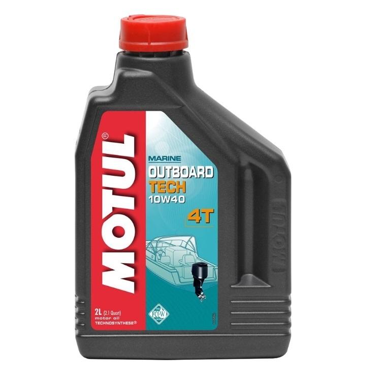 Масло моторное полусинтетическое Motul Outboard Tech 4T 10W-40 2 л (101748)
