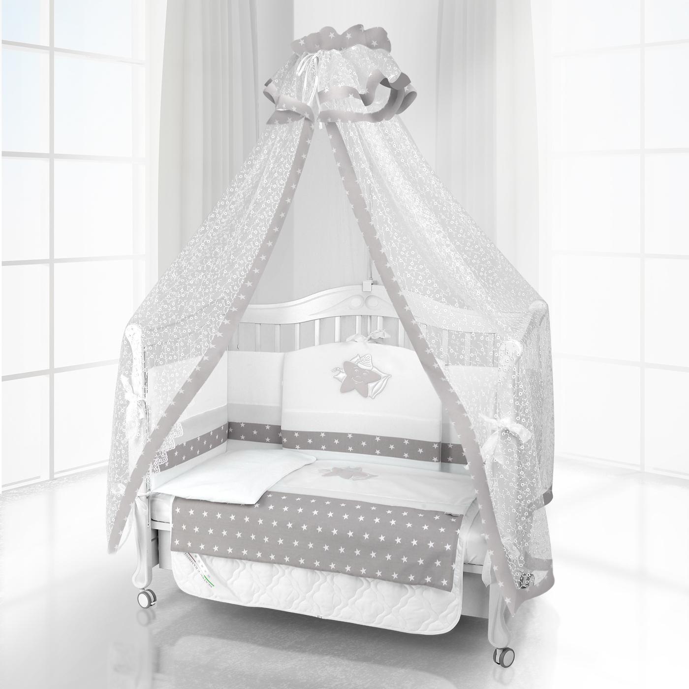 Комплект постельного белья Beatrice Bambini Unico Smile (120х60) - bianco grigio