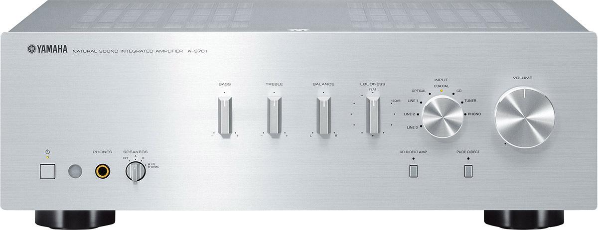 Интегральный усилитель Yamaha A-S701, серебристый