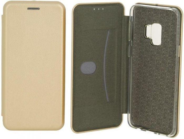 Чехол-книжка Fashion Case Slim-Fit для Samsung Galaxy S9 Plus Gold Золотой