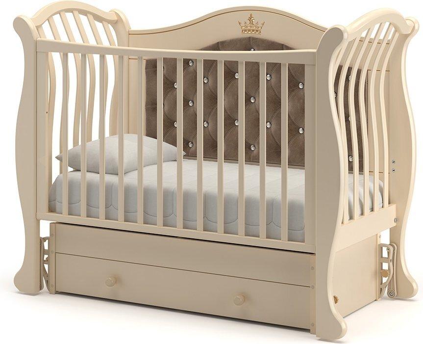 Кровать детская Гандылян Габриэлла Люкс Плюс  маятник универсальный  (слоновая кость)