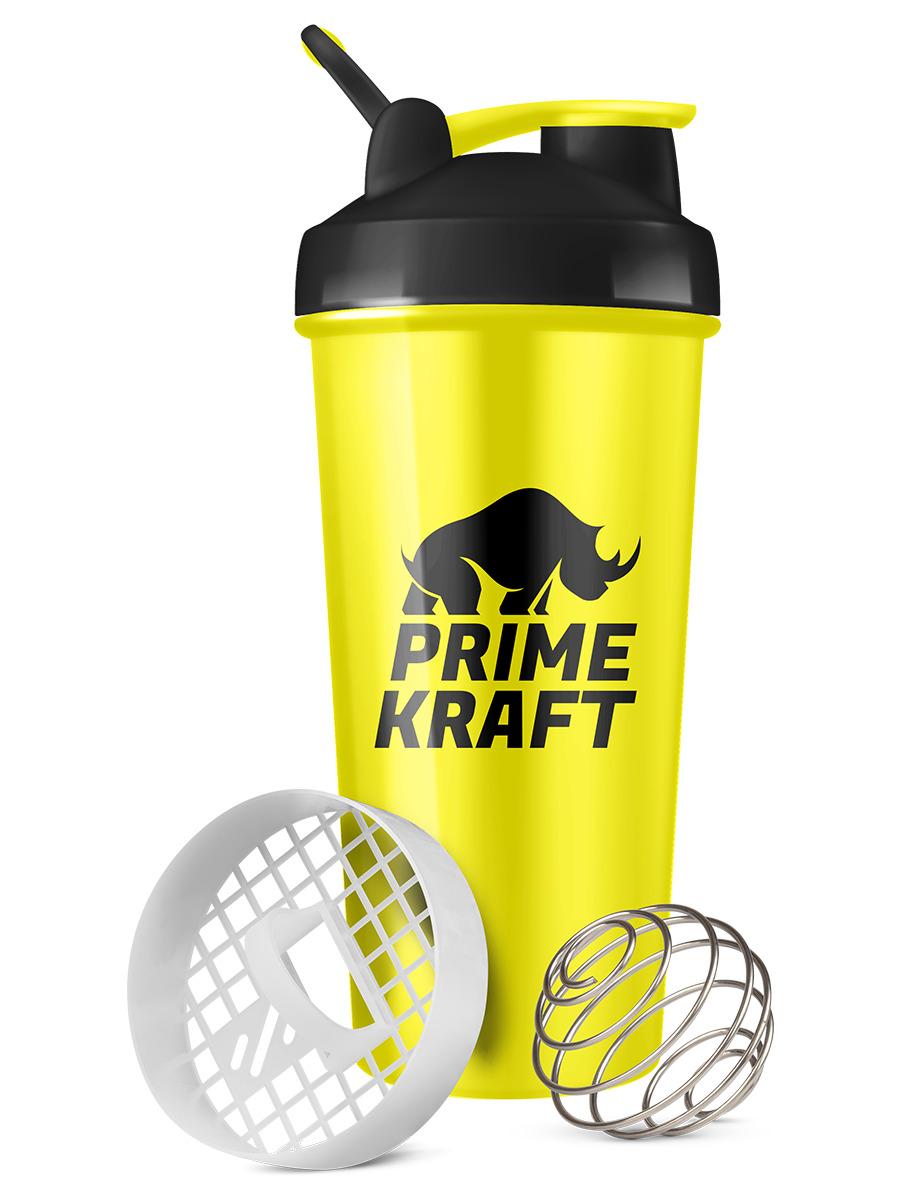 Шейкер PRIME KRAFT 600 мл жёлтый