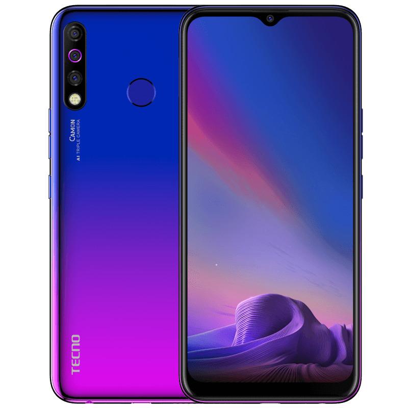 Смартфон Tecno Camon 12 4/64GB, голубой