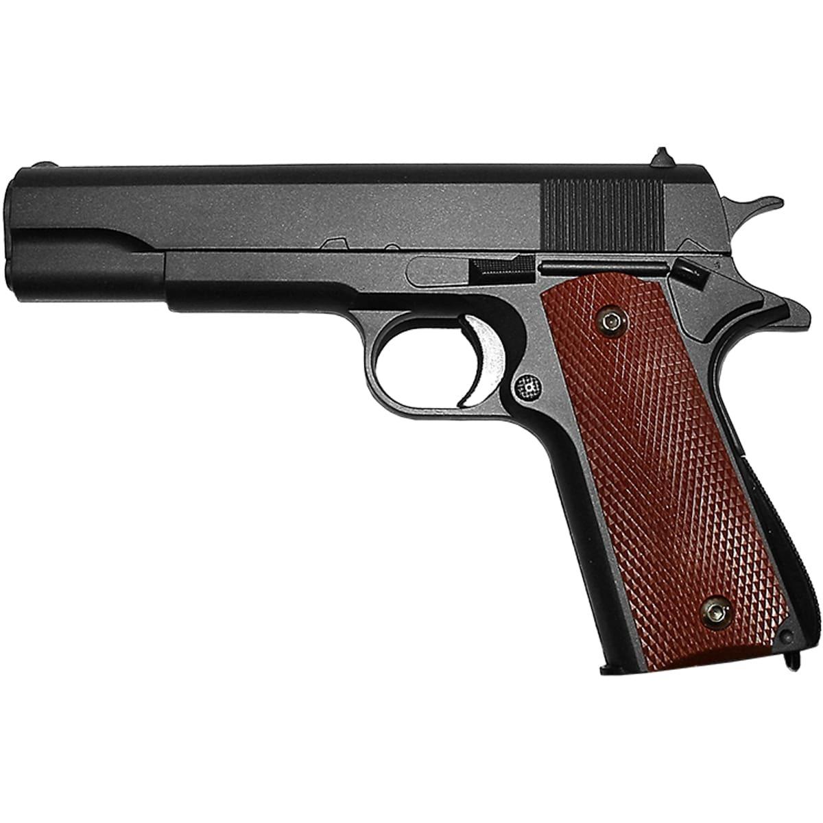 Пистолет GALAXY пневматический страйкбольный Colt 1911 Classic black магазин 12 шт калибр 6 мм