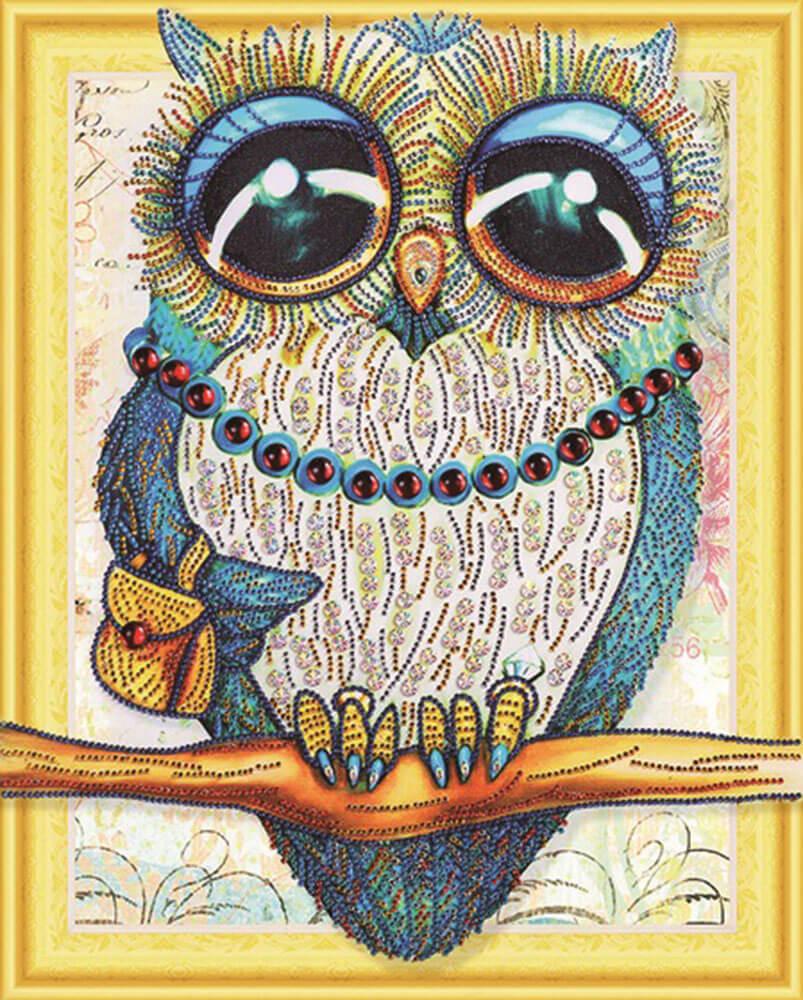 алмазная мозаика открытка своими руками сова стал