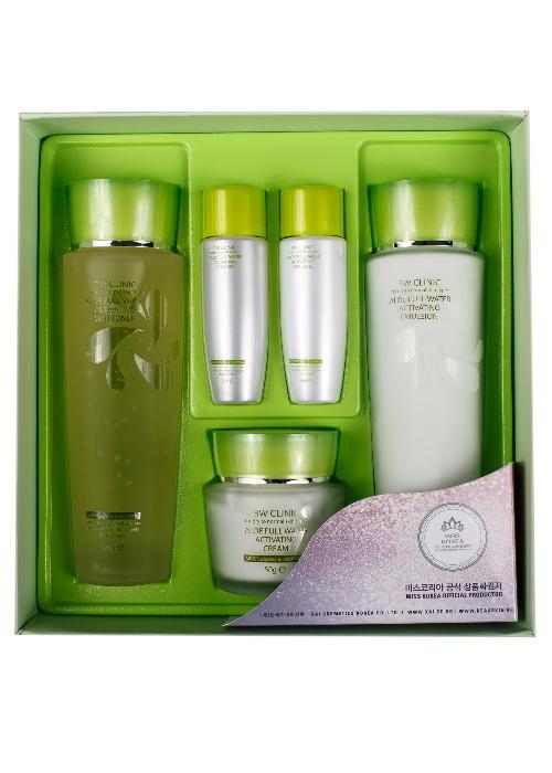 3W Clinic Набор для ухода за кожей с алоэ Aloe Full Water Activating Skin 3 Kit Set