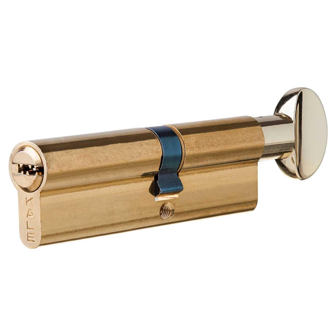 Цилиндр 164SM-100-C-BP, 50х40 мм, ключ/вертушка, цвет золото