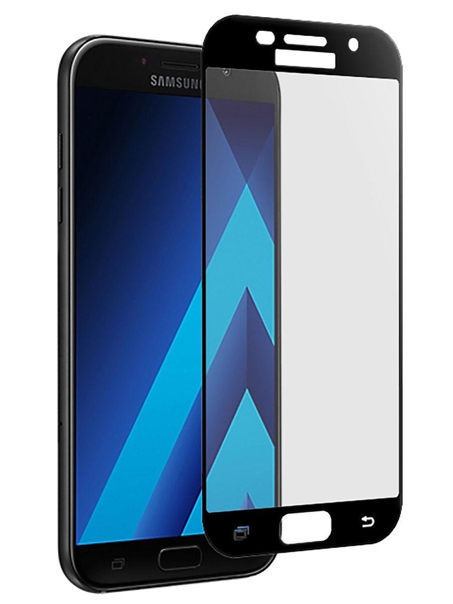 Полноприклеивающееся защитное стекло для Samsung Galaxy A3 2017 Черный