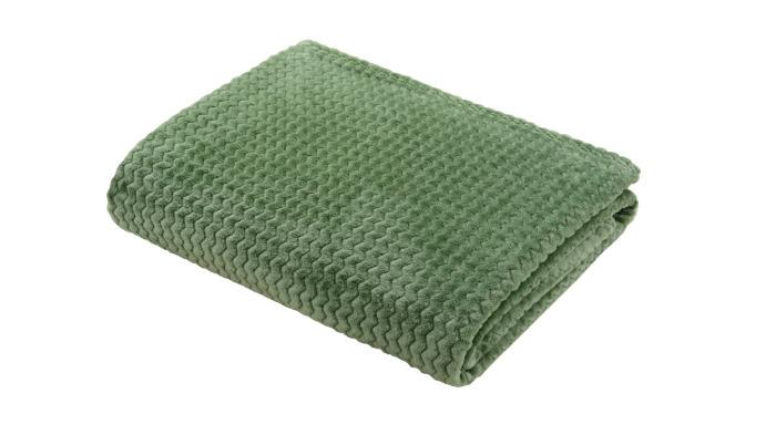 Плед, 150x200 см, полиэстер, цвет зелёный-21039