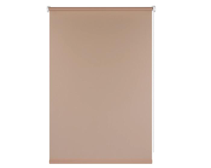 Штора рулонная, 55x160 см, цвет коричневый-20413