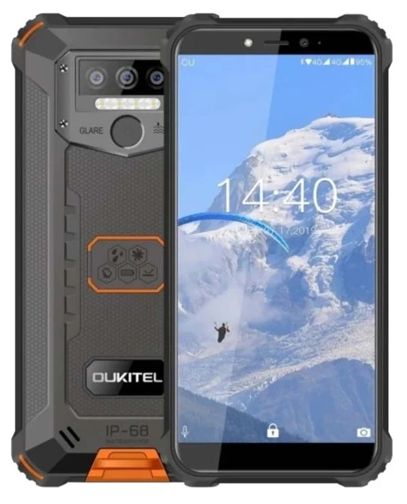 смартфон oukitel wp5;wp5 4/32gb, оранжевый, черный