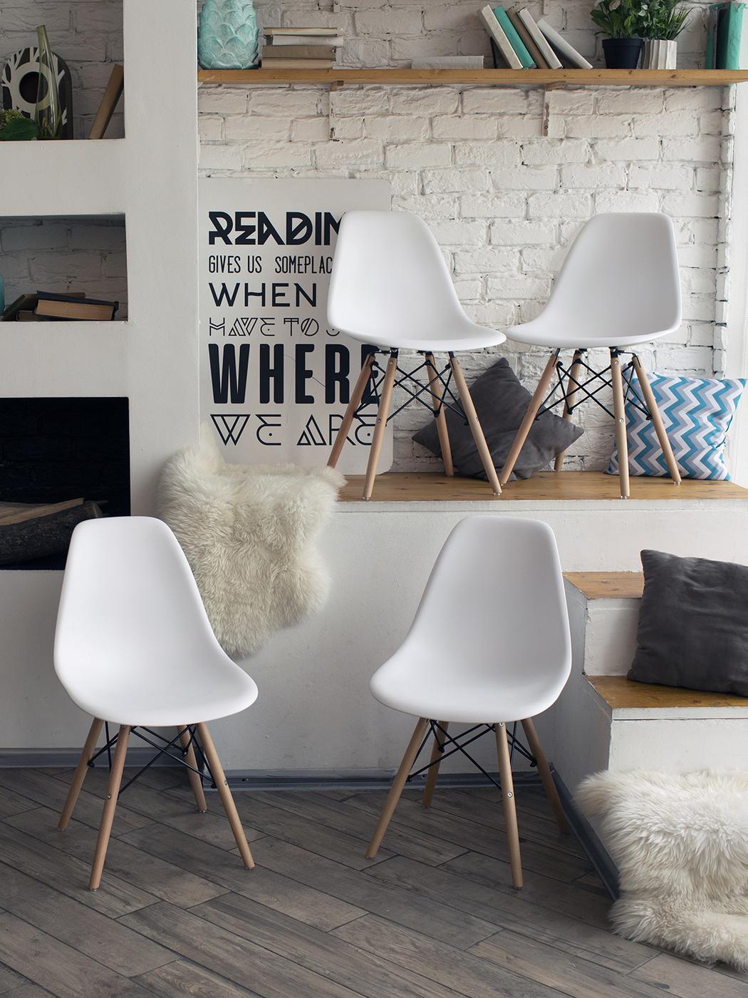 Комплект стульев DSW, 4 шт.