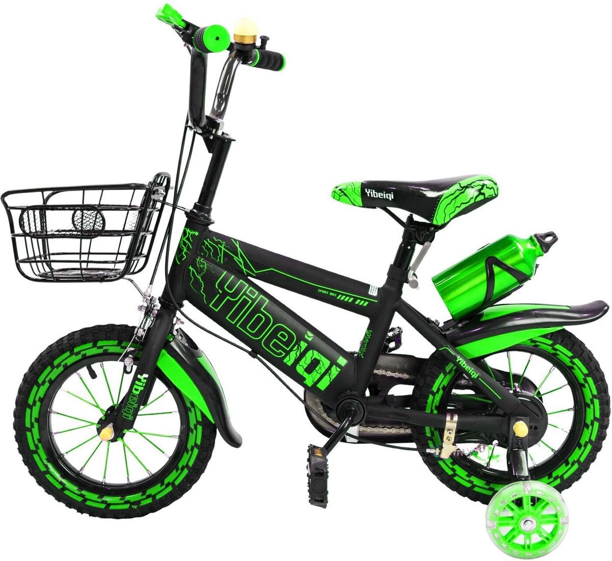 Детский велосипед Yibeigi V-12 зеленый #1