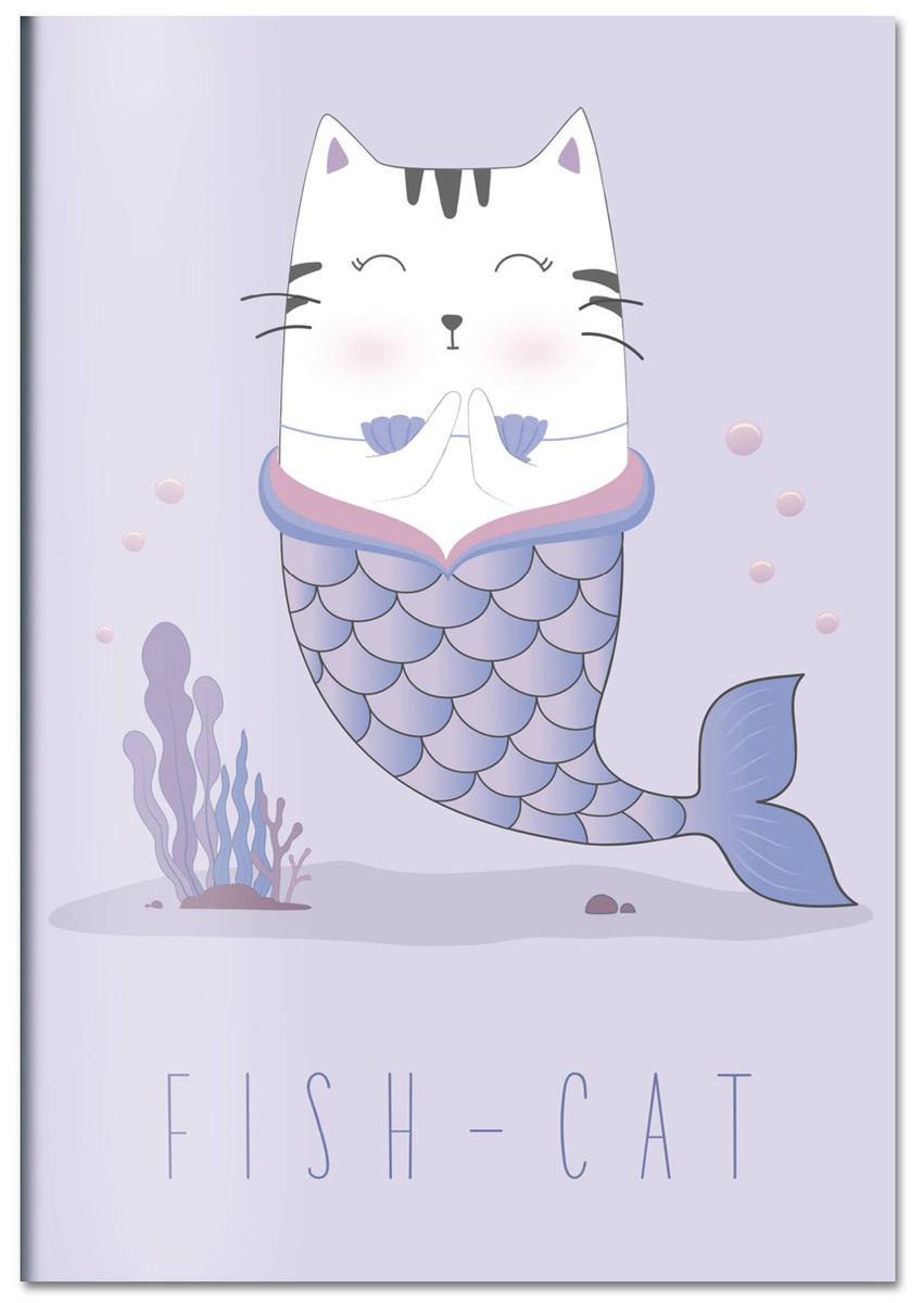 (2019)Fish-cat. Тетрадь общая (А5, 48 л., УФ-лак, накидка 4 п. полноцвет) | Нет автора  #1