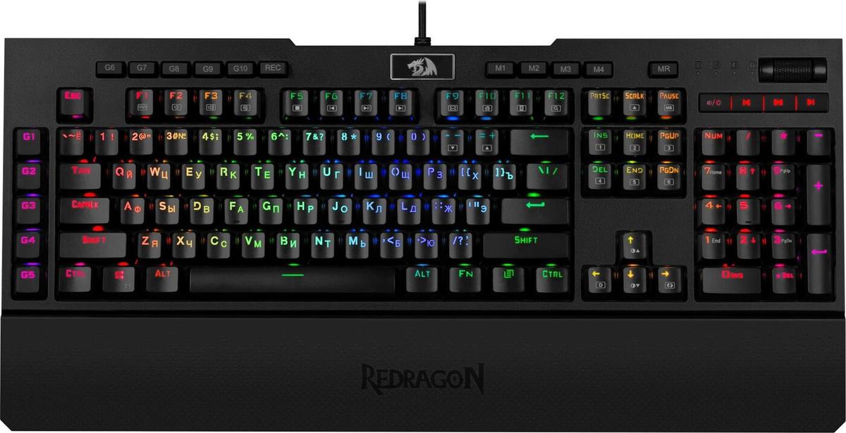 Механическая клавиатура Redragon Brahma RGB, черный цвет купить по низкой цене: отзывы, фото, характеристики в интернет-магазине Ozon
