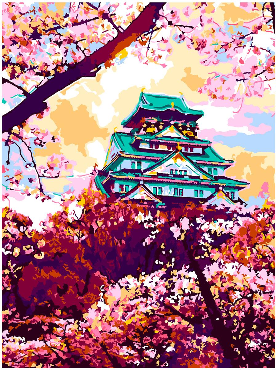 "Ркн/ф-099 Картина по номерам. 38х28,5 ""Япония в цвету ..."