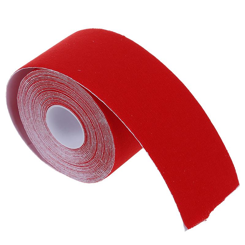 Пластырь спортивный UNILEX, кинезио тейп, бинт кинезиологический, водостойкий 5х500 см, красный  #1