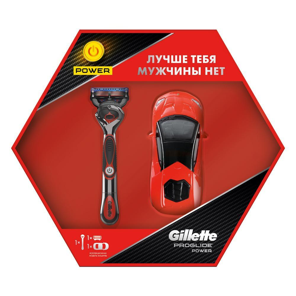 Gillette Подарочный набор Proglide Power Red с моделью гоночного автомобиля  #1