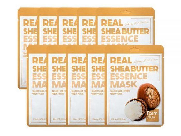 Тканевая маска для лица с маслом ши, 10 шт #1