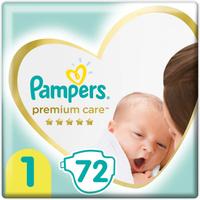 Pampers Подгузники Premium Care 2-5 кг (размер 1) 72 шт. Наши лучшие предложения