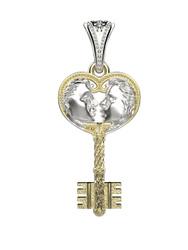 Spika Gold Подвеска ключик. Подвески из серебра