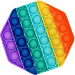 Игрушка с пузырьками POP IT/вечная пупырка Радужный многоугольник, 70 г